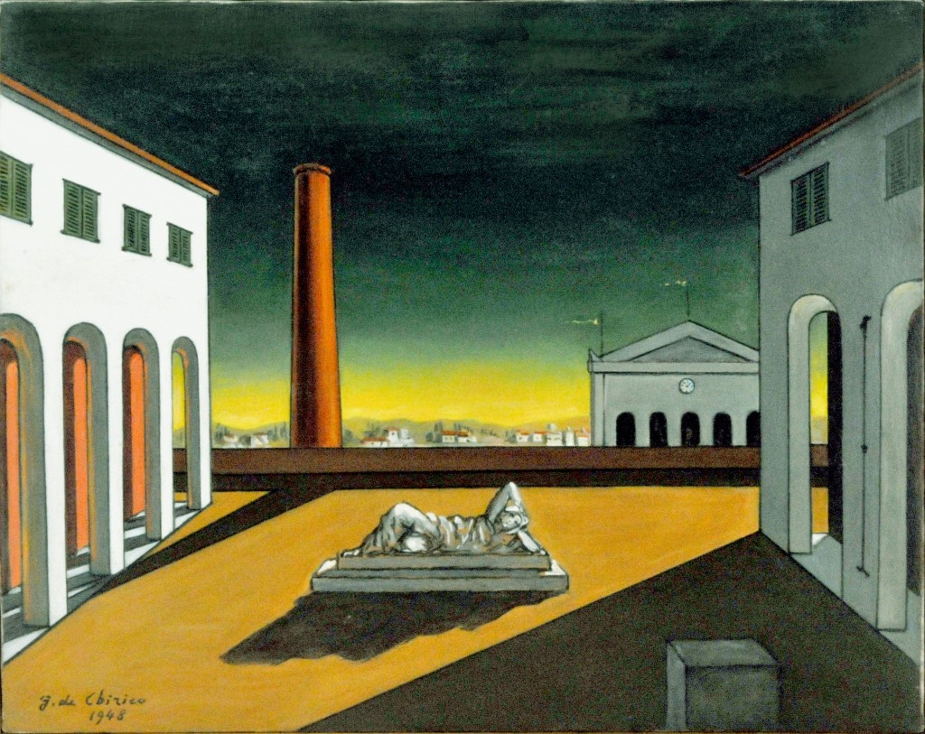 De Chirico 06 Piazza d'Italia 1948-1972 cm.39,5X50