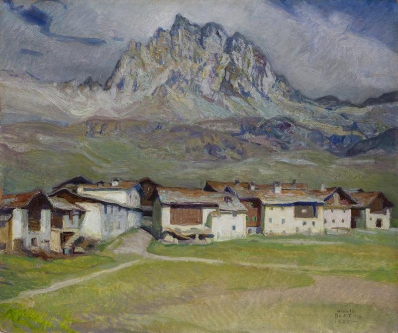 Giulio Boetto - Sambuco - 1950 - olio su cartone - cm 52 x 62 - Collezione privata copia LR